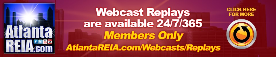 Atlanta REIA Webcasts