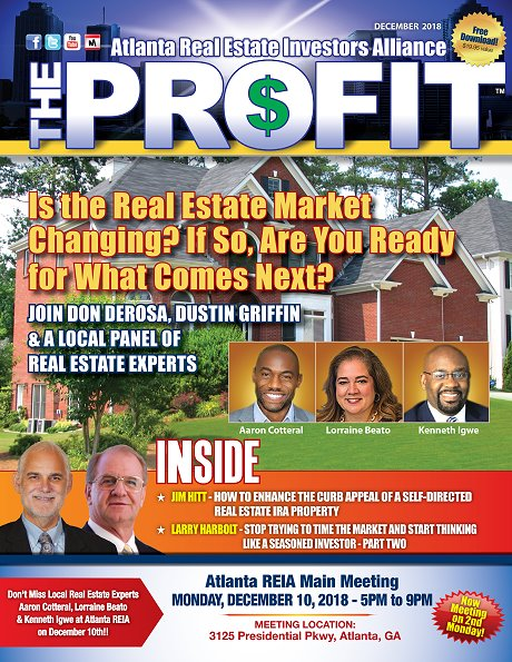 The Profit December 2018 - The Official Newsletter of Chattanooga REIA