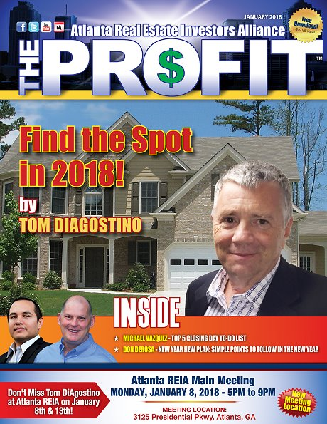 The Profit January 2018 - The Official Newsletter of Chattanooga REIA