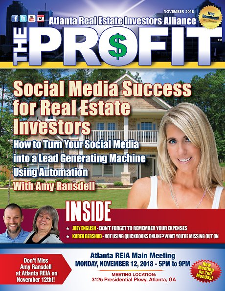 The Profit November 2018 - The Official Newsletter of Savannah REIA