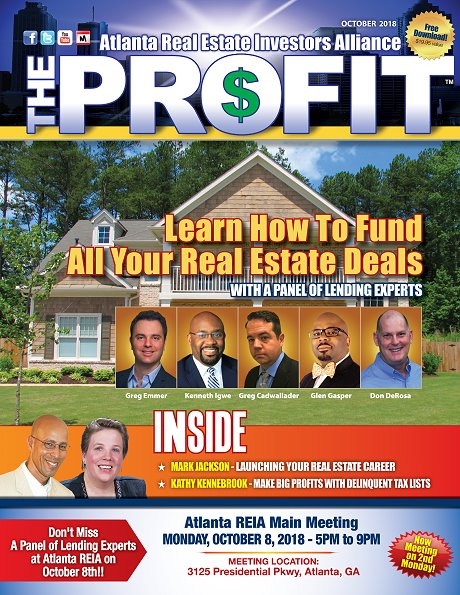 The Profit October 2018 - The Official Newsletter of Chattanooga REIA
